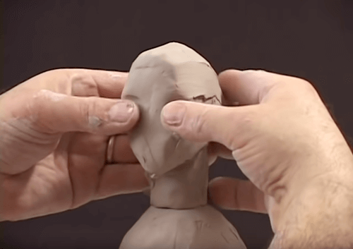 Building out the base facial features